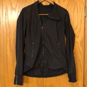 Lululemon black asymmetrical collar jacket
